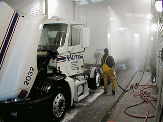 On-site truck cleaning service